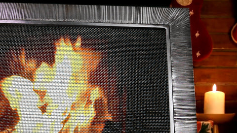 Aspen Freestanding Fireplace Screen