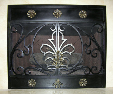 Regency Fireplace Screen Door