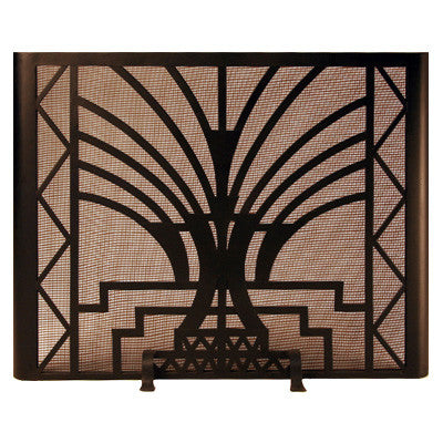 Art Deco Fireplace Screen Door