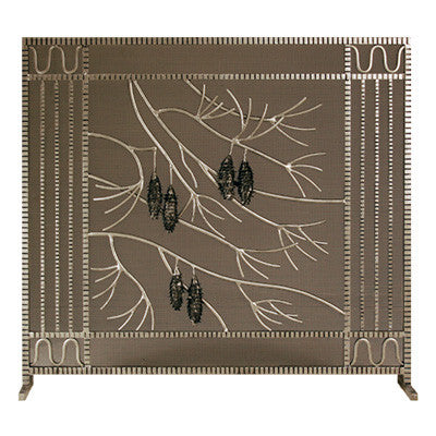 Edgar Brandt Pinecone  Fireplace Screen Door