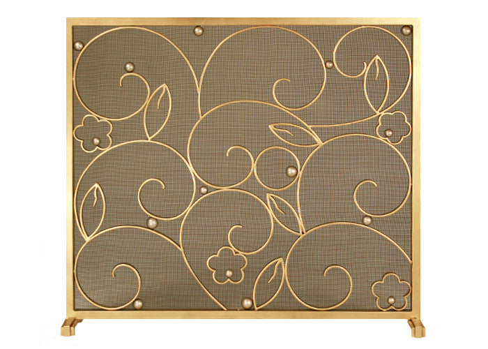 Edgar Brandt Salon Fireplace Screen Door