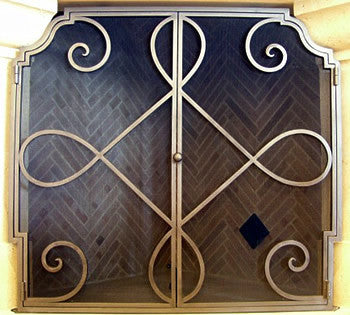 Celtic Loop Fireplace Screen Door