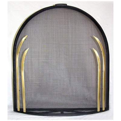 Standing Curved Deco  Fireplace Screen