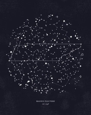 tennessee constellation print