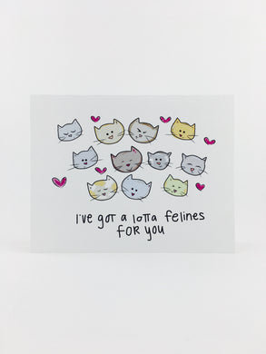 i've got a lotta felines for you greeting card