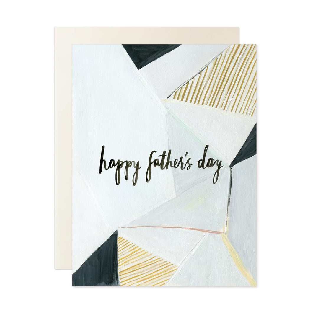 happy fathers day geometric card