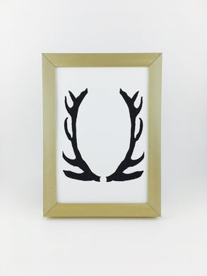 framed antlers calligraphy print