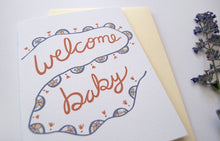 """welcome baby"" greeting card"