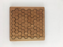 wooden honeycomb puzzle + coaster