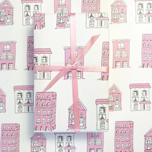 pink houses wrapping paper