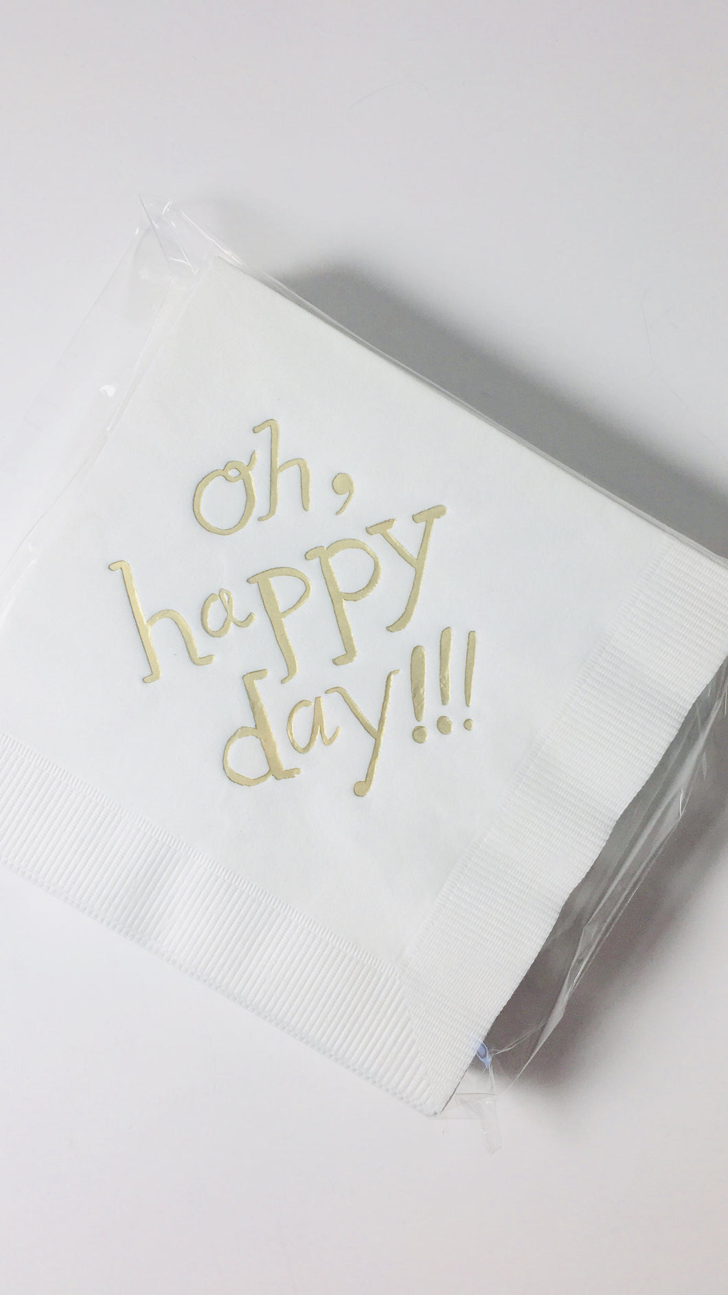 """oh happy day"" cocktail napkins"