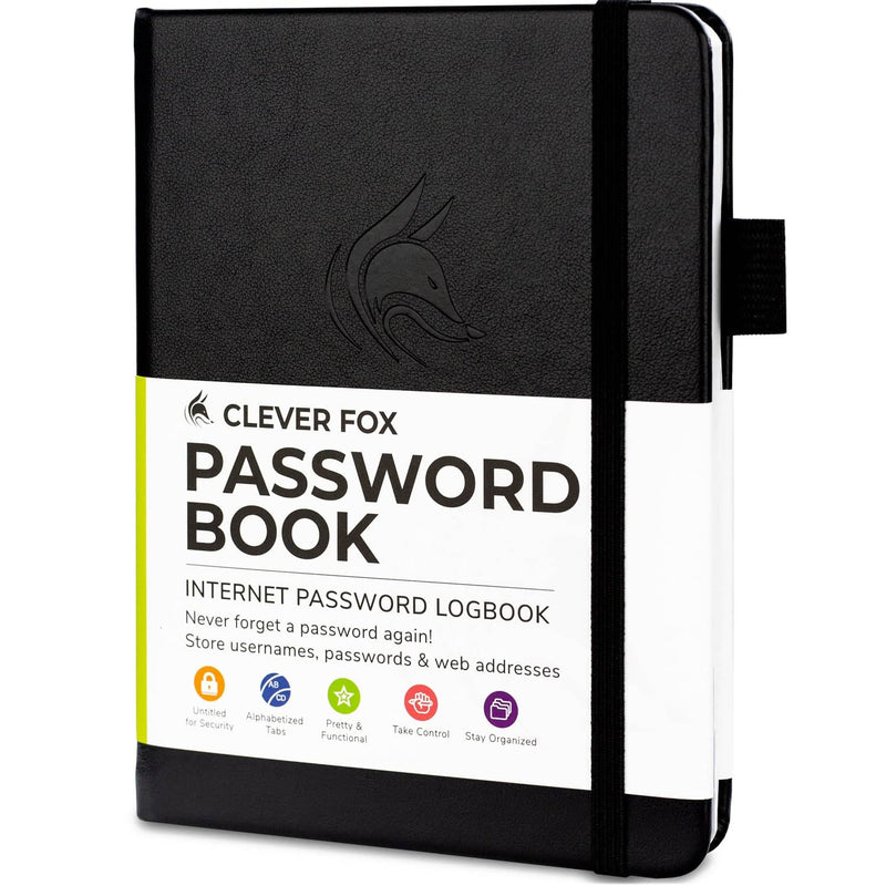 Password Book (Pocket Size), Black