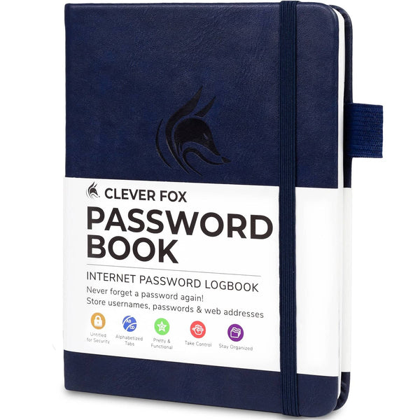 Password Book (Pocket Size), Dark Blue
