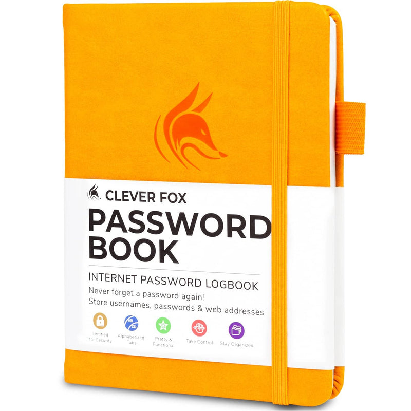 Password Book (Pocket Size), Yellow