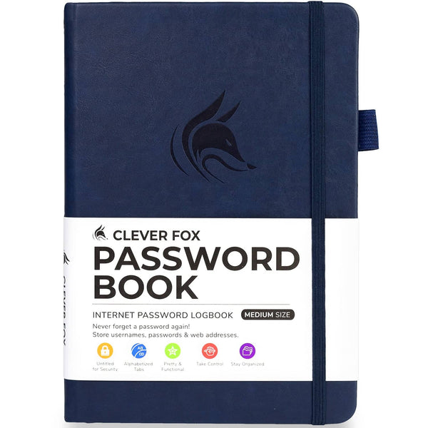 Password Book (Medium Size), Dark Blue