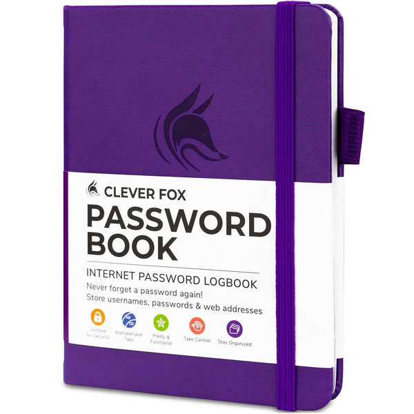 Password Book (Pocket Size), Purple