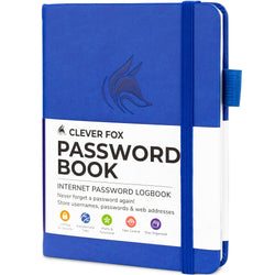 Password Book (Pocket Size), Royal Blue