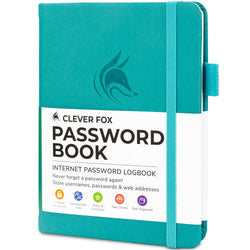 Password Book (Pocket Size), Turquoise