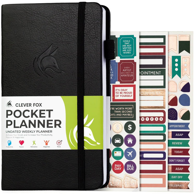 Pocket Weekly Planner, Black