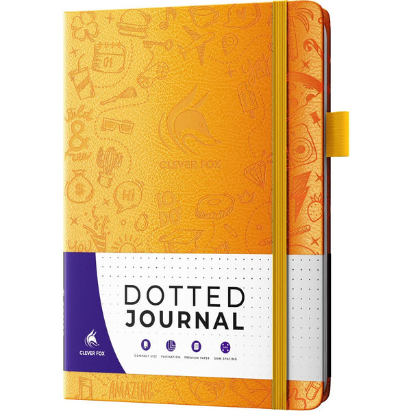 Dotted Journal 2.0, Amber Yellow