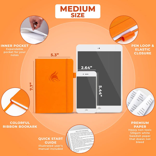 Password Book (Medium Size), Orange