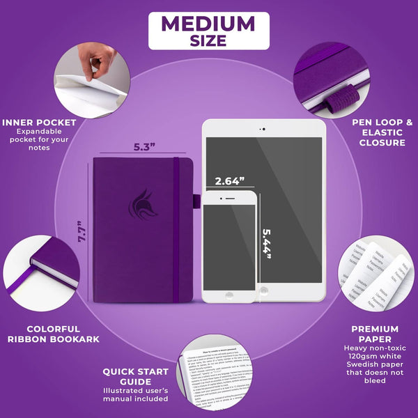 Password Book (Medium Size), Purple