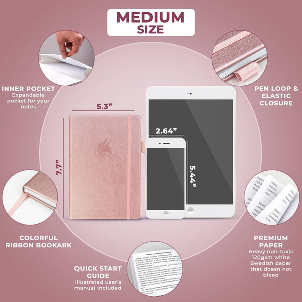 Password Book (Medium Size), Rose Gold