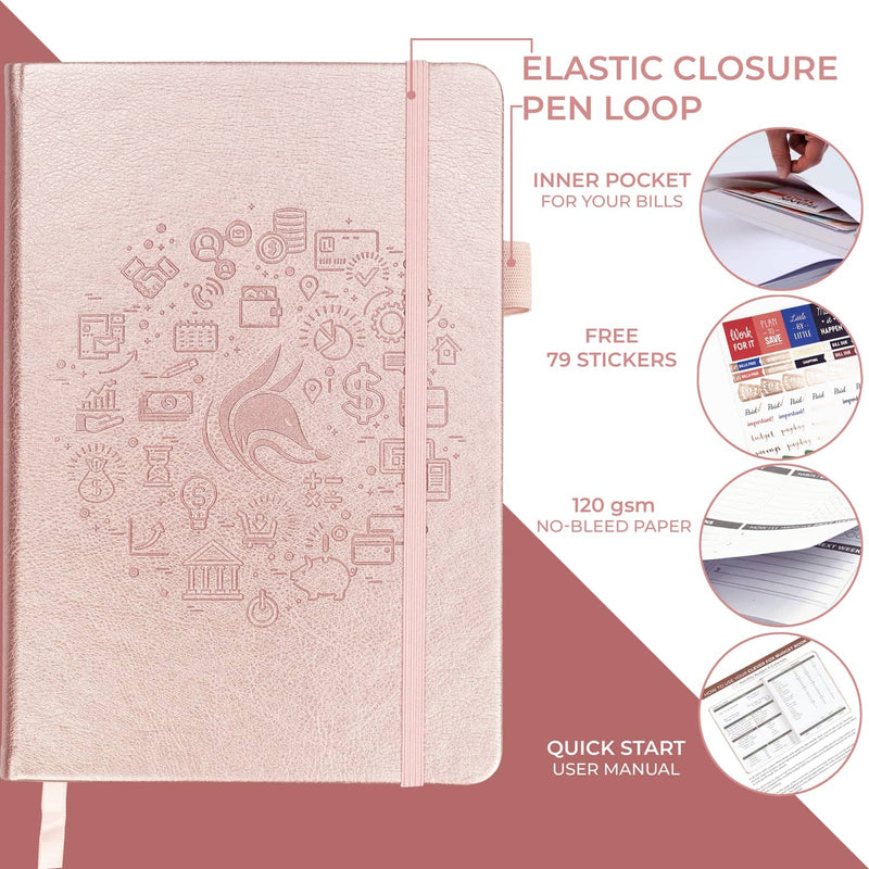 Budget Book, Rose Gold