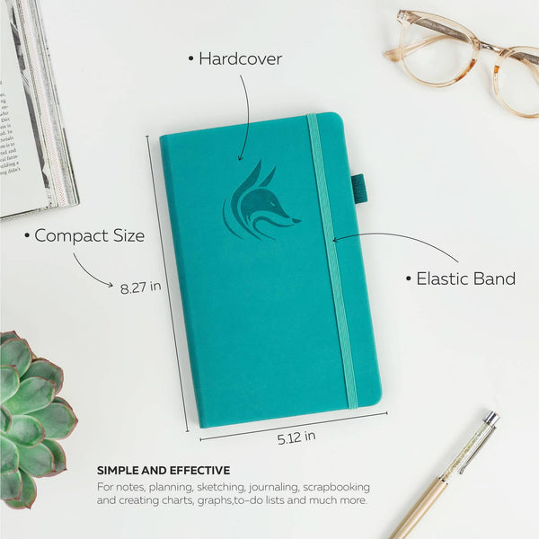 College Ruled Notebook / Journal, Turquoise