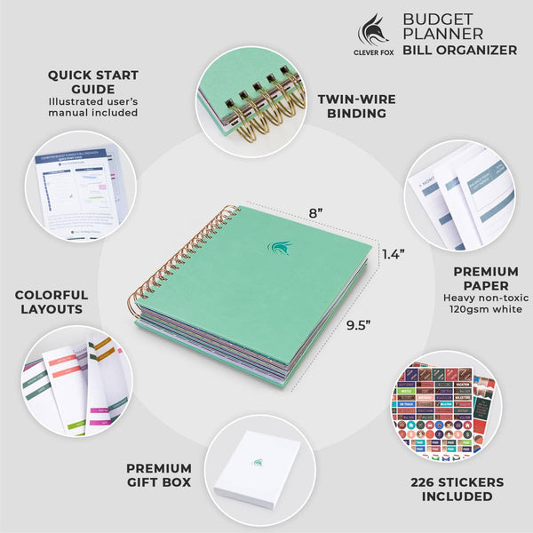 Bill Organizer, Mint Green