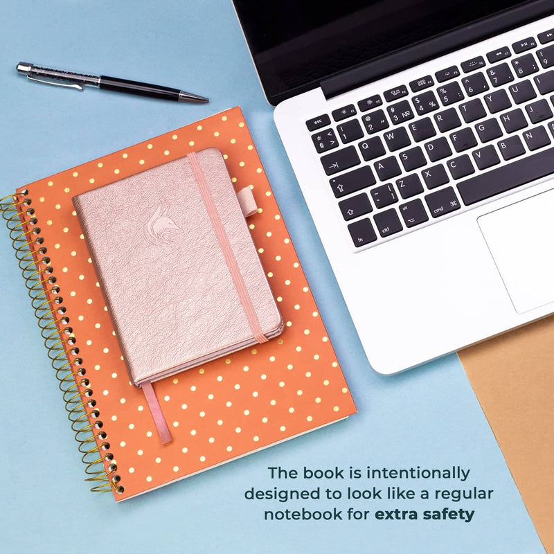 Password Book (Pocket Size), Rose Gold