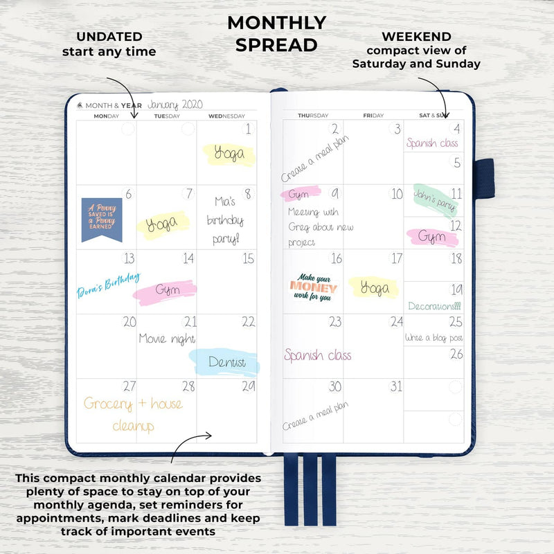 Pocket Weekly Planner, Blue