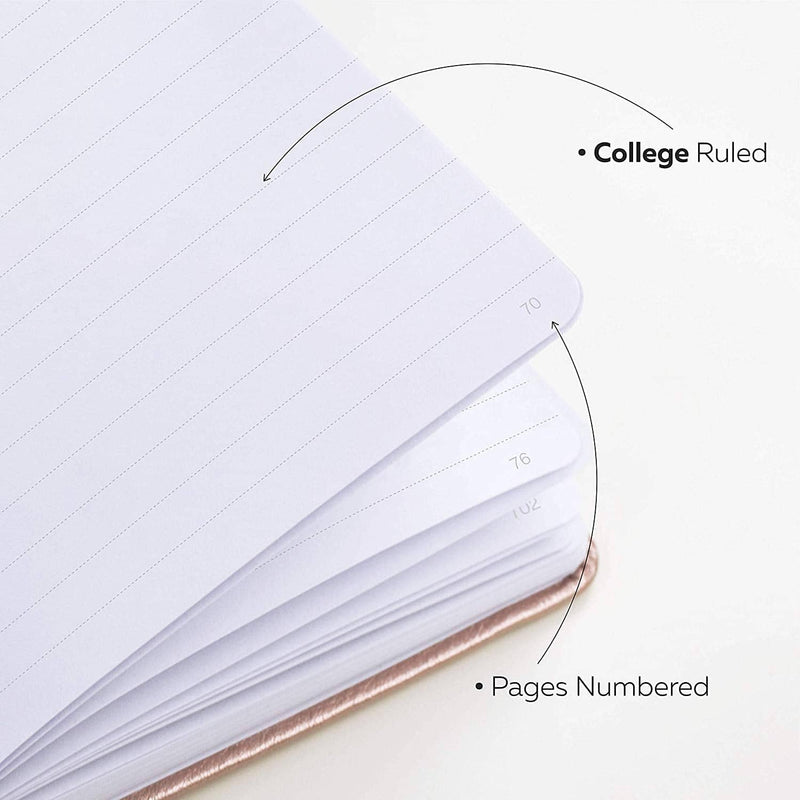 College Ruled Notebook / Journal, Rose Gold