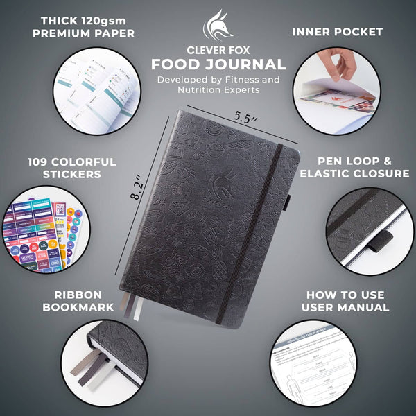 Food Journal, Silver Black