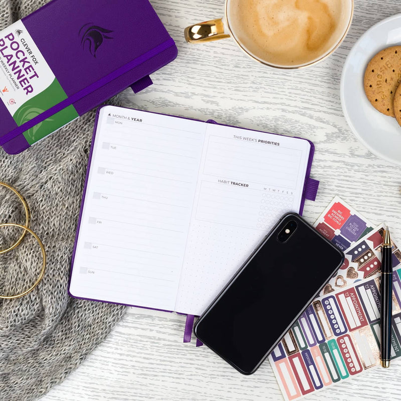 Pocket Weekly Planner, Purple