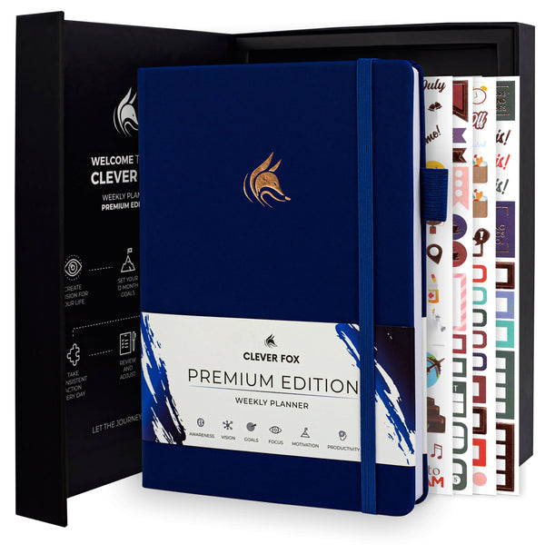Premium Weekly Planner, Navy Blue