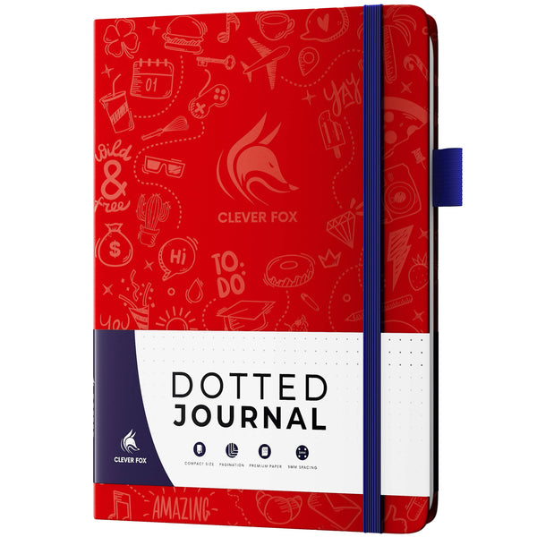 Dotted Journal 2.0, Wine Red