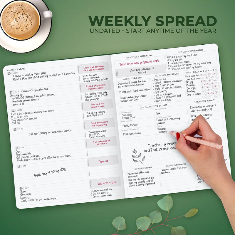 Clever Fox Planner Pro Premium Edition, Forest Green
