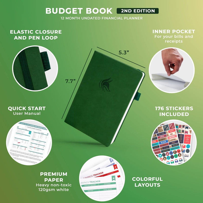 Budget Book 2.0, Dark Green