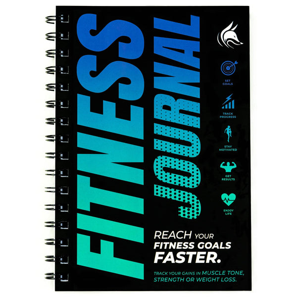 Fitness Journal, Sky Blue & Navy Blue
