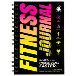Fitness Journal, Yellow & Pink