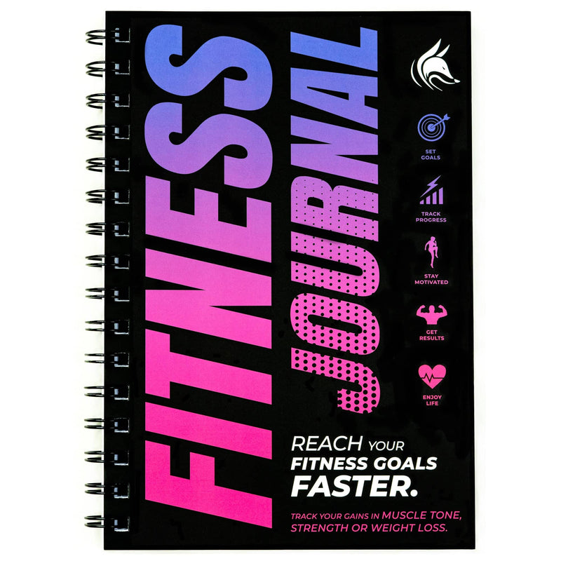 Fitness Journal, Pink & Dark Purple