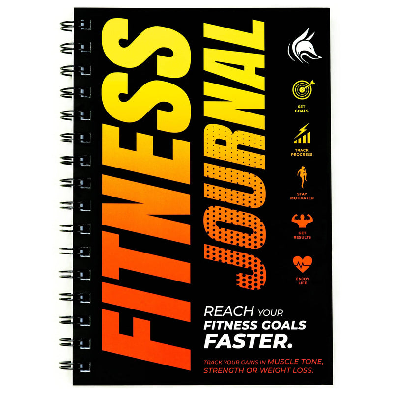 Fitness Journal, Orange Red