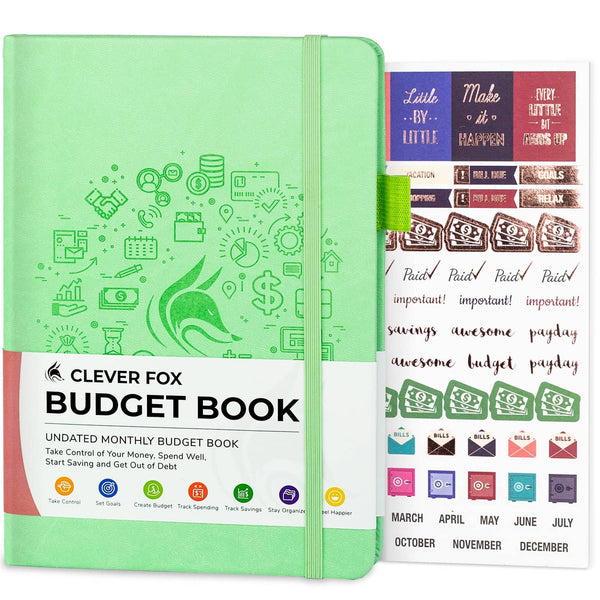 Budget Book, Mint Green