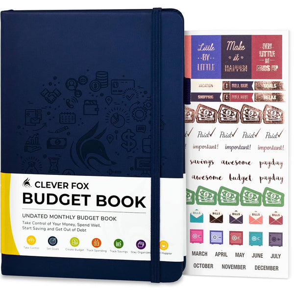 Budget Book, Dark Blue