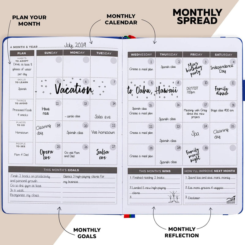 Undated Weekly Planner, Royal Blue