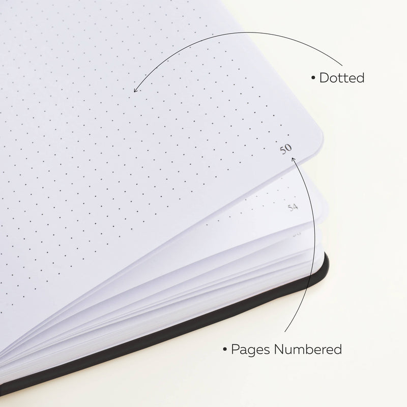 Dotted Grid Notebook/Journal, Black