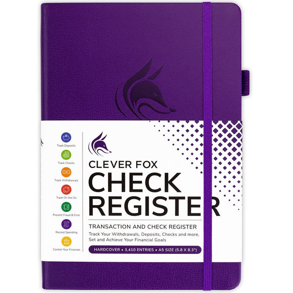 Clever Fox Check Register, Purple