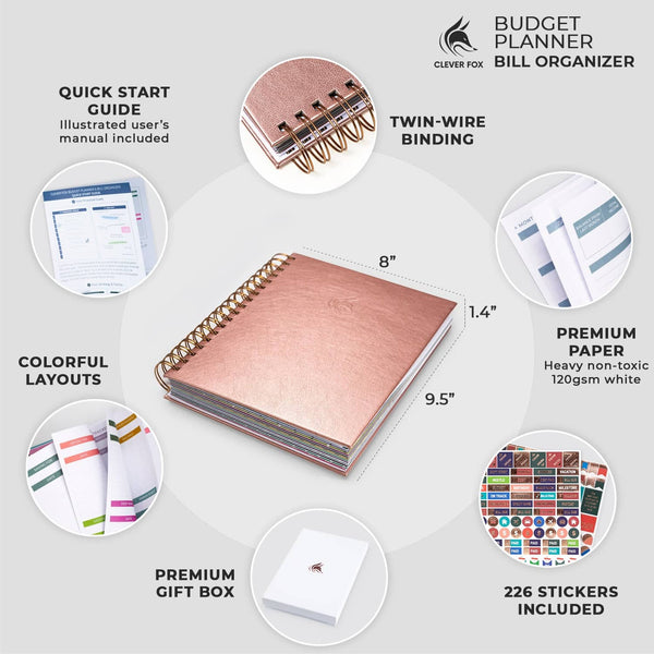 Bill Organizer, Rose Gold