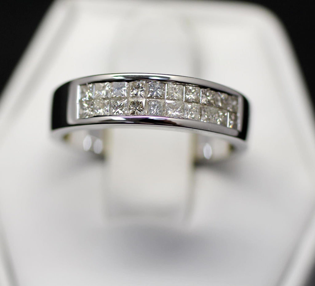 14k 1cttw Diamond Channel Wide Band